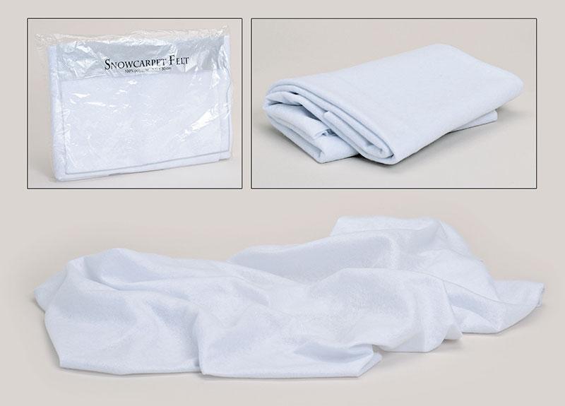 Schneeeteppich, Polyester 120x80cm