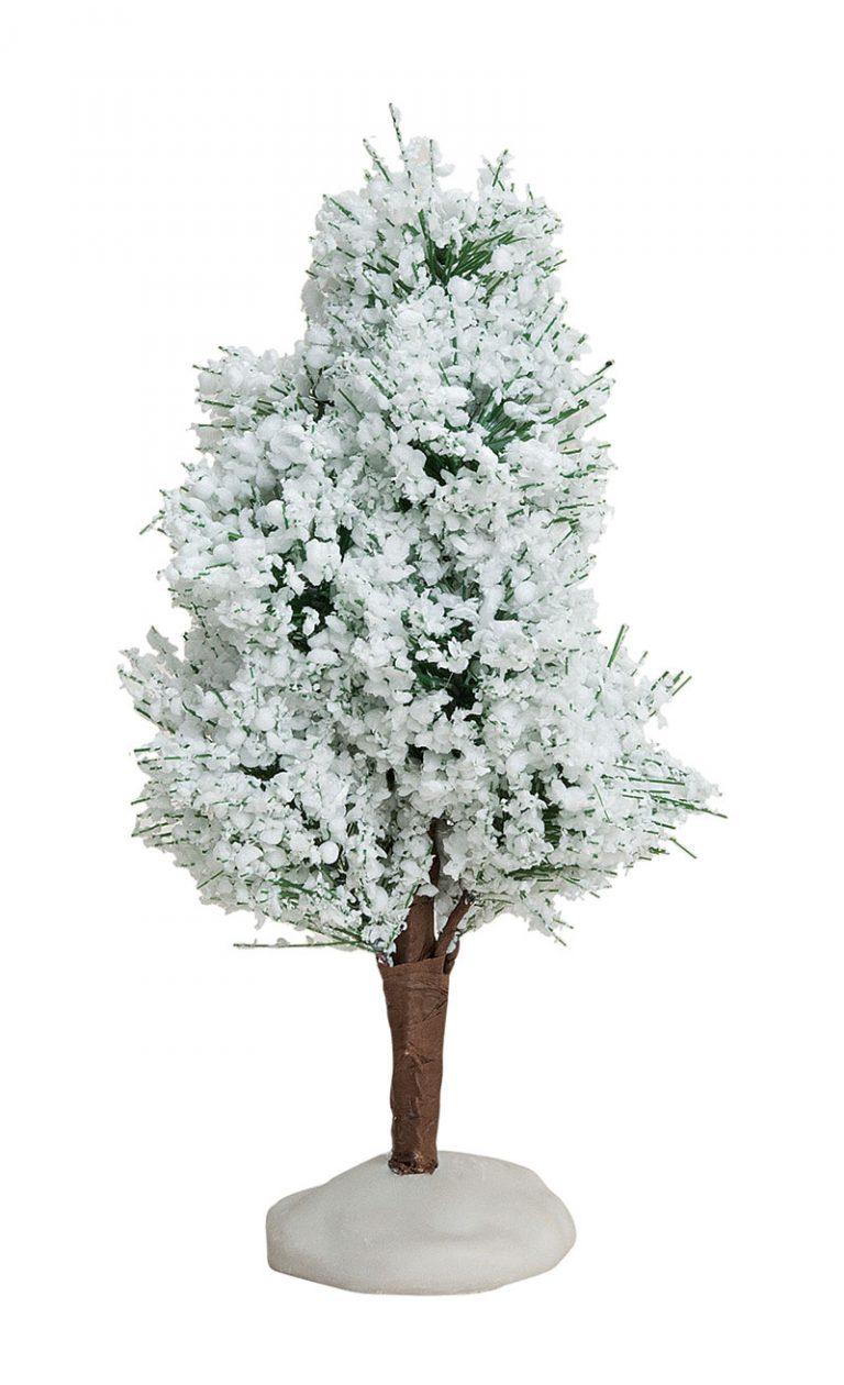 Laubbaum-mit-Schnee-Höhe-13-cm