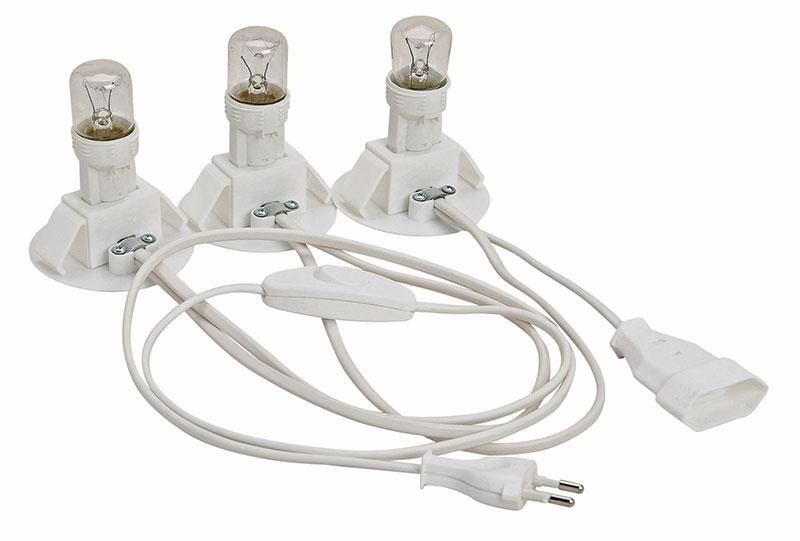 Elektrische-Beleuchtung-für-drein-Häuser-mit-Kupplung