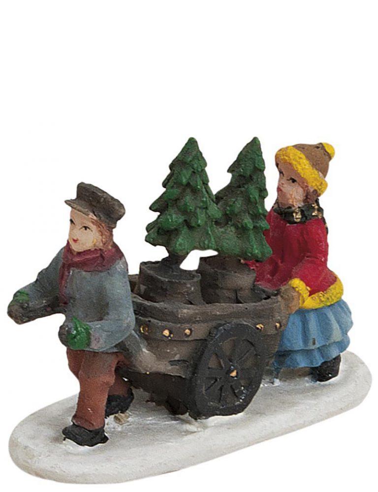 Mit den Weihnachtsbäumen auf dem Heimweg
